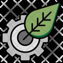 Eco Setting Leaf Icon