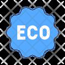 Eco Ecological Label Icon
