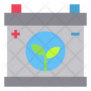 Battery Ecology Leaf Icon