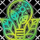 Eco Bulb Light Bulb Leaf Icon