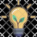 Green Energy Idea Bulb Icon