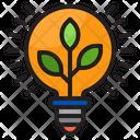Eco Bulb Lightblub Ecology Lamp Icon