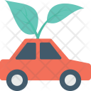 Eco Car Leaf Icon