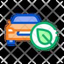 Electro Eco Car Icon
