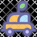 Electric Car Automobile Icon
