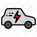 Eco Car Electricity Icon