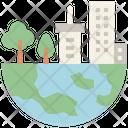 Eco City City Earth Icon