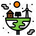 Home Earth Plant Icon