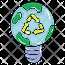 Eco Energy Green Energy Light Icon