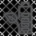 Eco Battery Leaf Icon