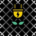 Eco Energy Eco Plug Bio Electricity Icon
