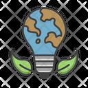 Eco Energy Bulb Bulb Consumption Icon