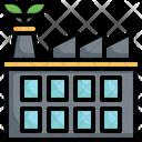 Eco Factory Sustainable Energy Ecology Icon