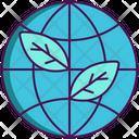 Eco Friendly Globel Ecologically Icon