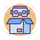 Eco Friendly Robot Robot Cardboard Box Icon