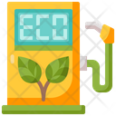 Eco Fuel Eco Friendly Fuel Station Icon