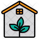 Eco House Green House Eco Home Icon