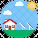 Solar Energy Eco House Solar Panels Icon