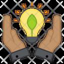 Eco Innovation Plant Innovation Bright Idea Icon