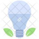 Eco Light Green Light Nature Idea Icon