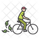 Eco Mobility Green Bicycle Icon