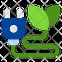 Eco Plug Ecology Power Icon
