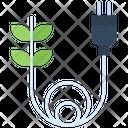 Eco Plug Green Electrical Icon