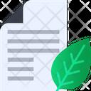 Eco Print Document Paper Icon
