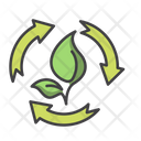 Eco Process Recycle Leaf Icon