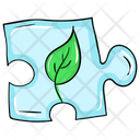 Eco Puzzle Puzzle Piece Problem Solving Icon