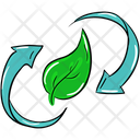 Eco Recycling Leaf Recycling Biodegradable Icon