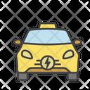 Eco Taxi Eco Car Electric Vehicle Icon