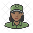 Eco Worker Black Female Eco Worker Eco Icon