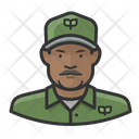 Eco Worker Black Male Eco Worker Eco Icon
