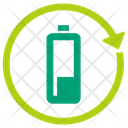 Ecological Battery Natural Battery Rechargable Battery Icon