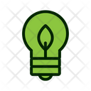 Ecological Bulb Lightbulb Green Energy Icon