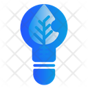 Lightblub Leaf Electricity Icon