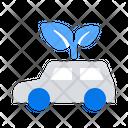 Eco Car Electric Icon