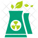 Ecological nuclear power plant Icon