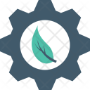 Ecology Cog Leaf Icon