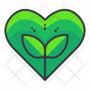 Save Plant Heart Icon