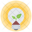 Bulb Earth Sprout Icon