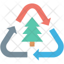 Ecology Fir Tree Icon