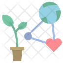 Ecology Network Plant Icon