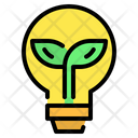Bulb Lightbulb Leaf Icon