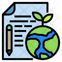 File Ducument Earth Icon