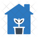 Plant House Home Icon