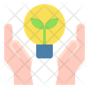 Hand Light Bulb Idea Icon
