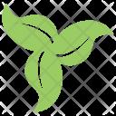Swirl Leafy Floral Icon
