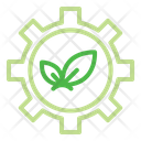 Gear Leaf Sustainable Icon